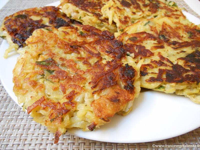 Galettes aux pommes de terre alsaciennes (vegan)