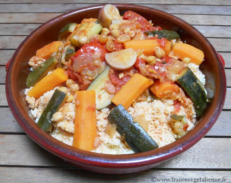 Couscous aux légumes (recette végétalienne)