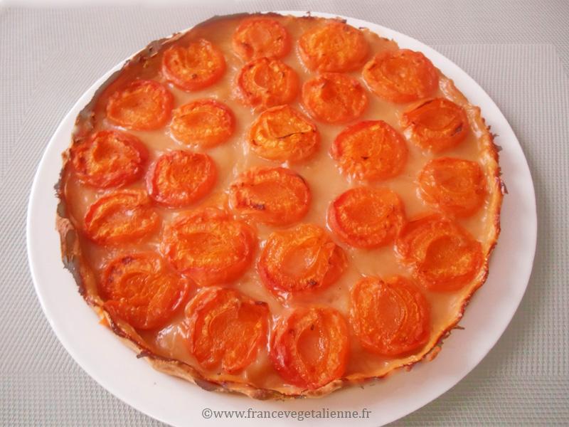 Tarte aux abricots vegane