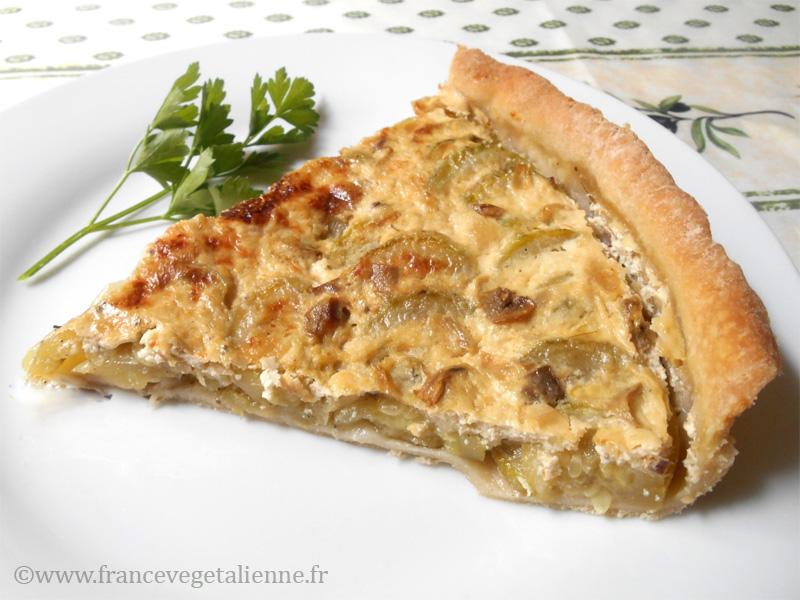 Tarte aux courgettes (vegan)