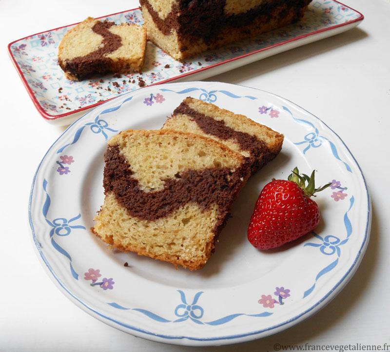 Cake marbré sans oeuf, sans beurre, sans lait