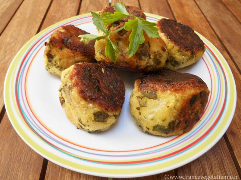 Boulettes oignons/persil véganes