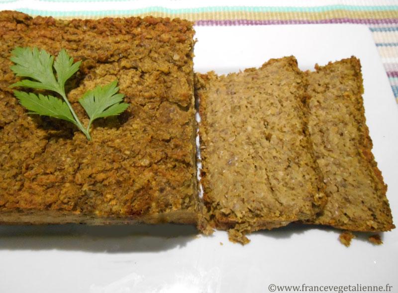 Terrine aux lentilles et carottes (recette végane)