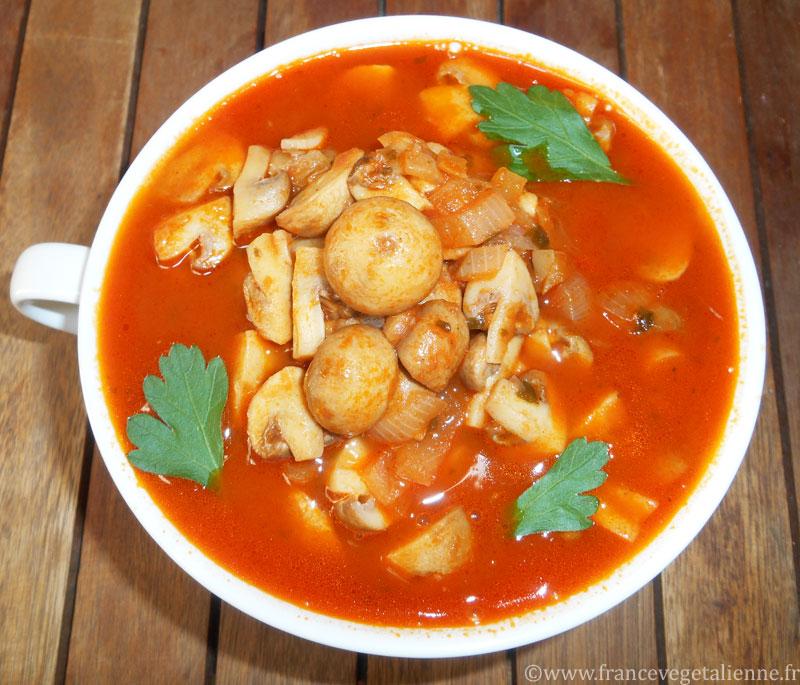 Champignons à la grecque (recette végétalienne)