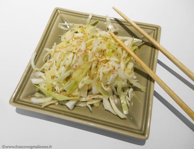 Salade japonaise au chou blanc