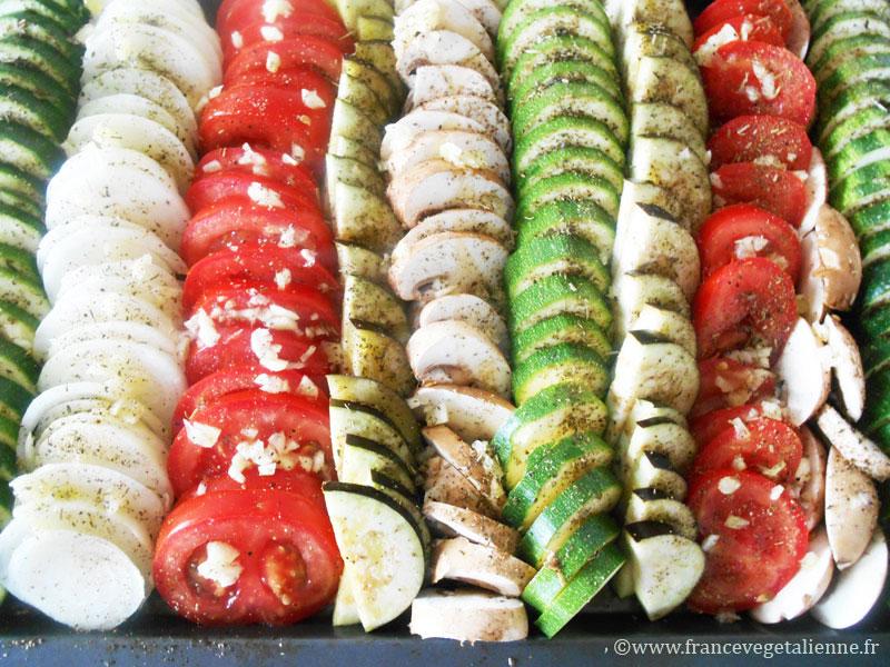 Tian aux légumes avant cuisson
