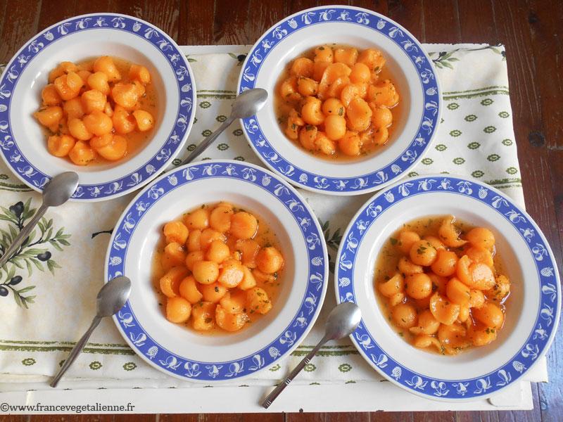 Soupe de melon (recette végane)