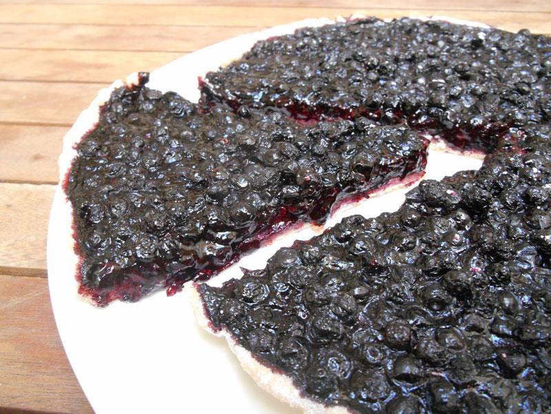Tarte aux myrtilles (recette vegan)