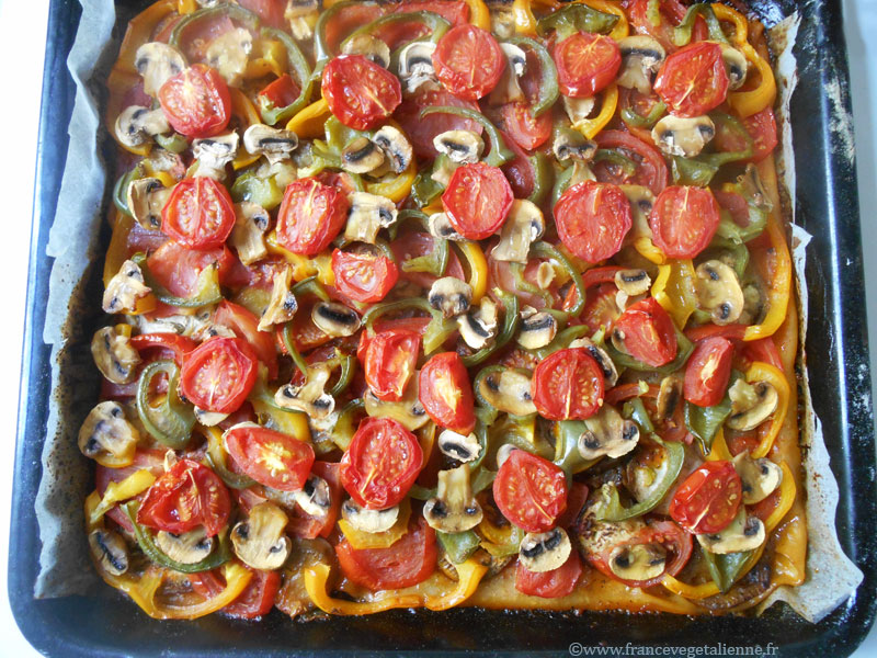 Pizza provençale végétalienne