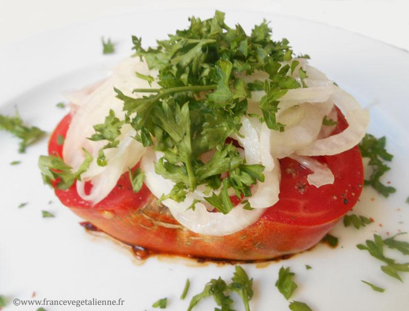 Steak de tomate