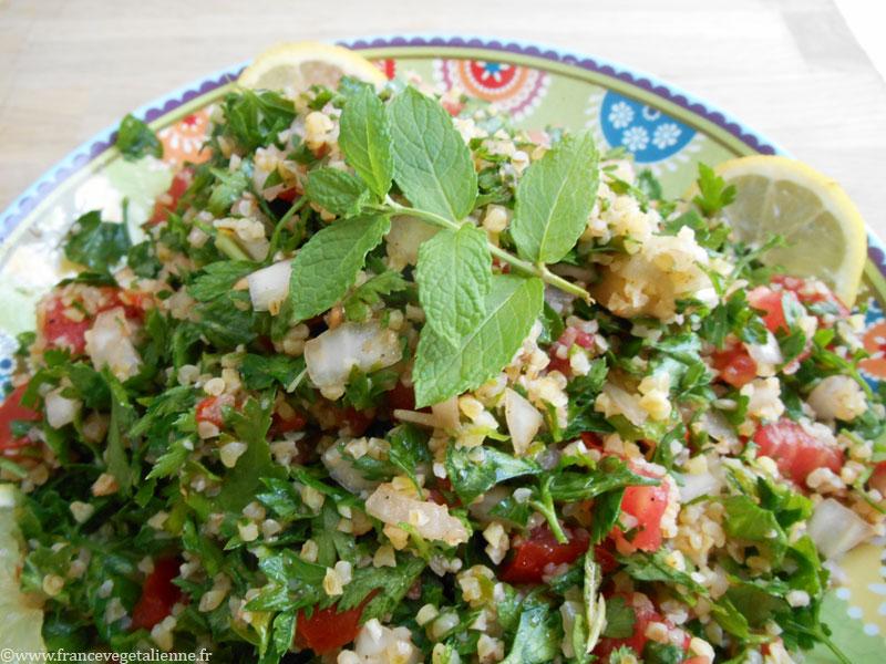 Taboulé libanais (recette vegan)