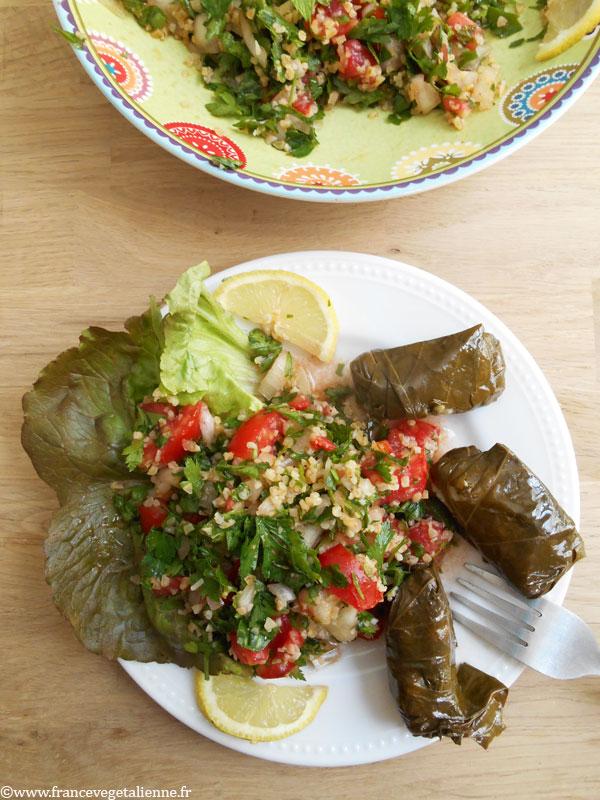 Taboulé libanais (recette végétalienne)