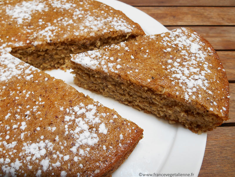 Gâteau aux noisettes (sans oeuf, sans beurre, sans lait)