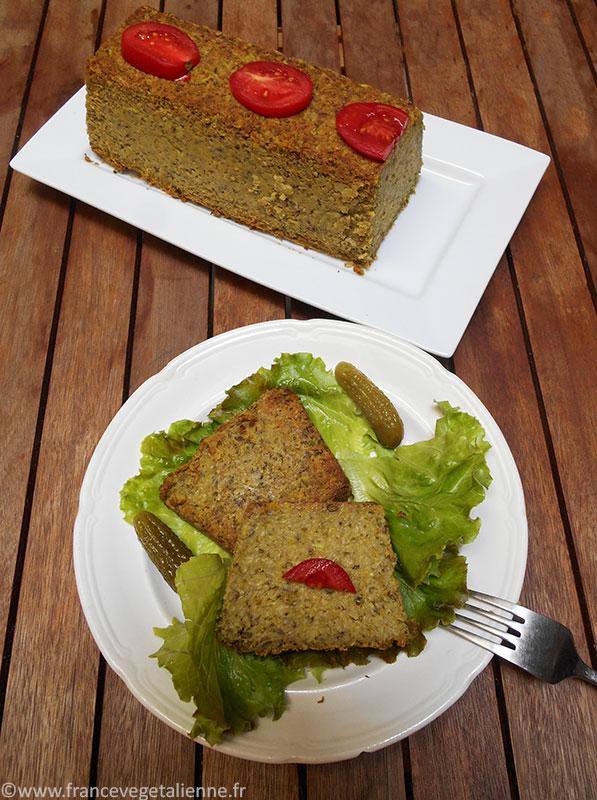 Terrine aux champignons et courgettes (sans œuf, sans gluten)