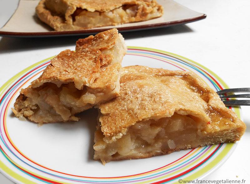 Pâte de la batteuse (chausson aux pommes et poires, recette végane)