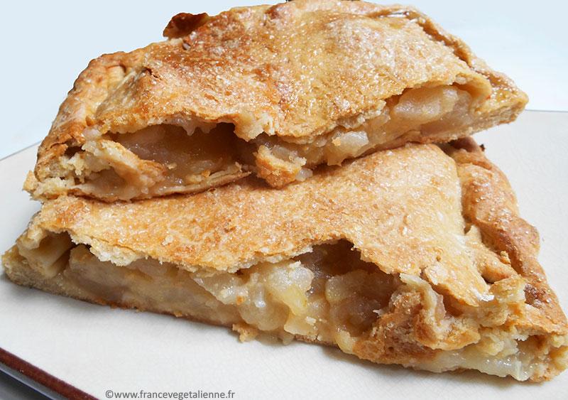Pâte de la batteuse (chausson aux pommes et poires vegan)