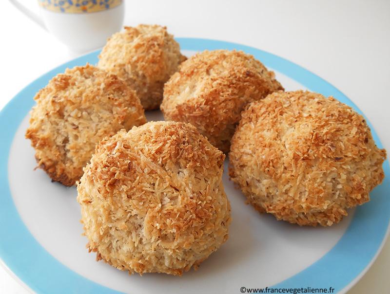 Rochers à la noix de coco, recette végane