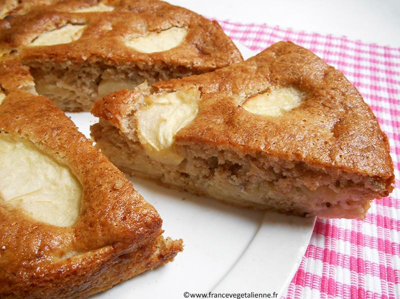 Gâteau à la pomme sans oeuf, sans produit laitier