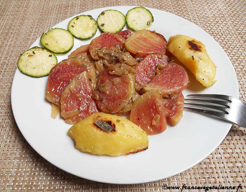 Betteraves à la poitevine (recette végétalienne)