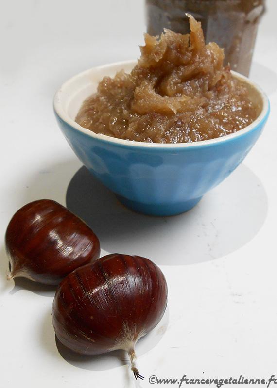 Crème de marron (recette végane)