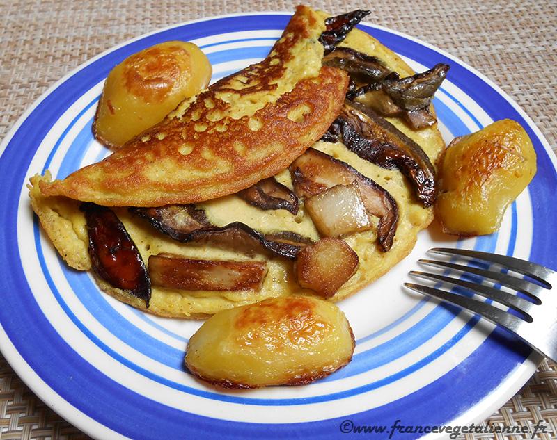 Omelette de cèpes (recette végane)