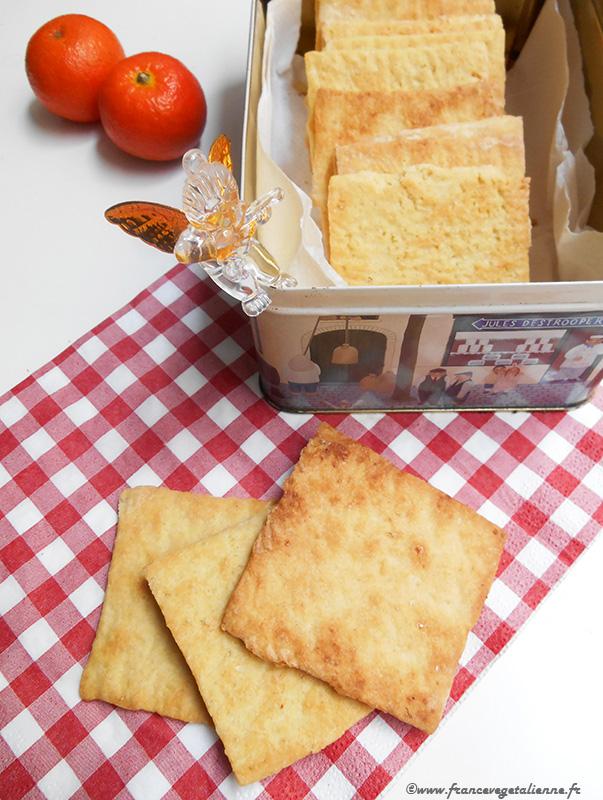 Biscuits carrés d'Auvergne (recette végane)