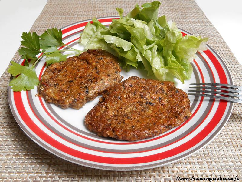 """""""Steaks"""" aux champignons (sans oeuf)"""