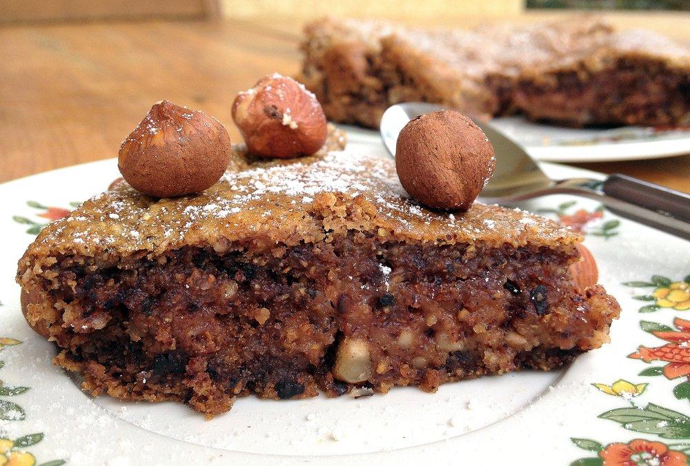 Gâteau aux noisettes sans œuf, sans produit laitier, sans gluten