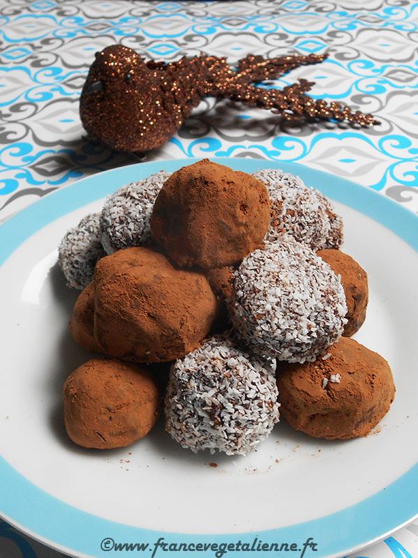Truffes au chocolat (sans lactose)