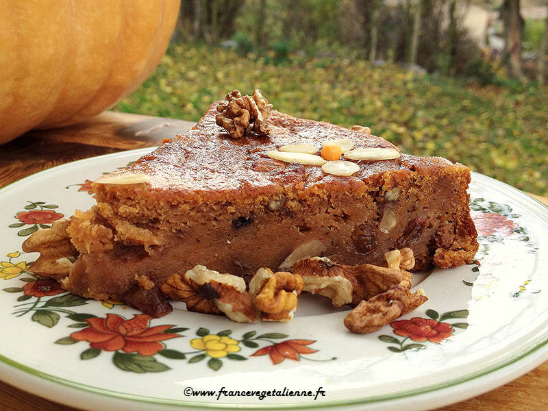 Gâteau à la courge et aux épices (vegan, sans gluten)