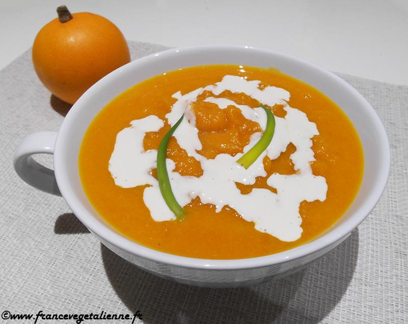 Soupe au potiron (recette végane)