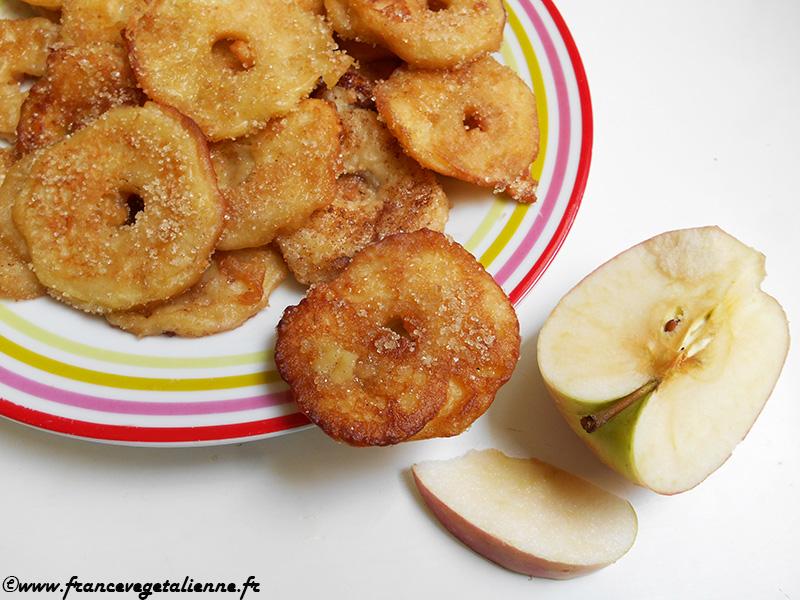 Beignets aux pommes (recette végane)