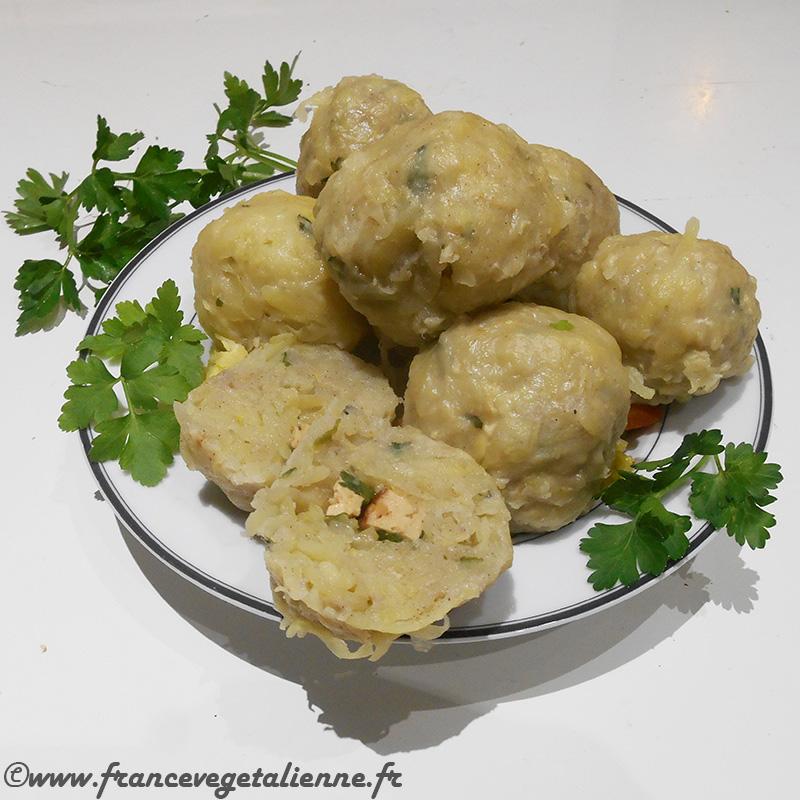 Farcidure (boulettes de pommes de terre; recette végane)