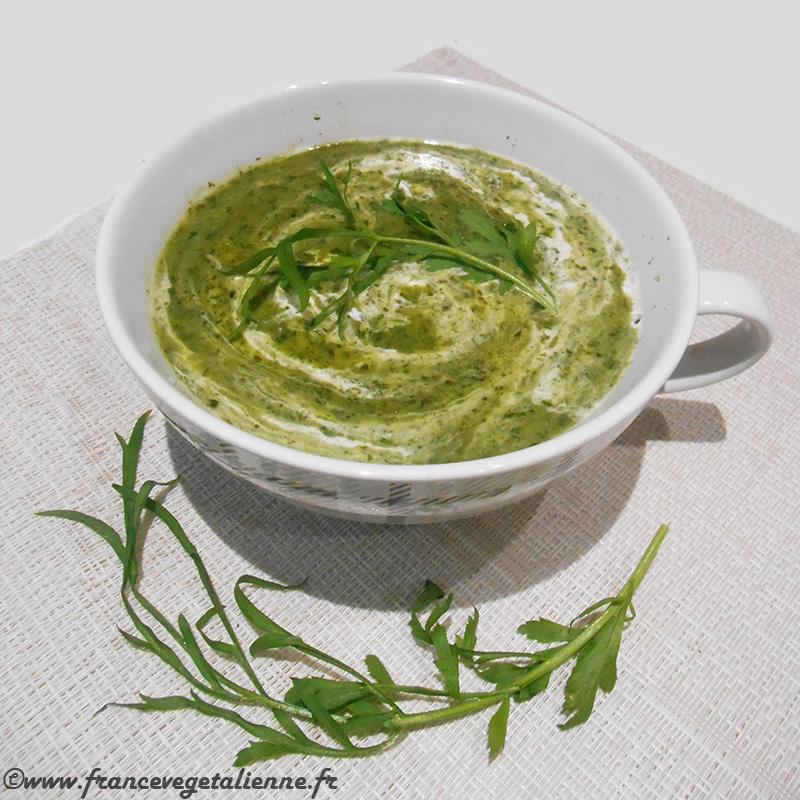 Soupe cressonière (recette végane)