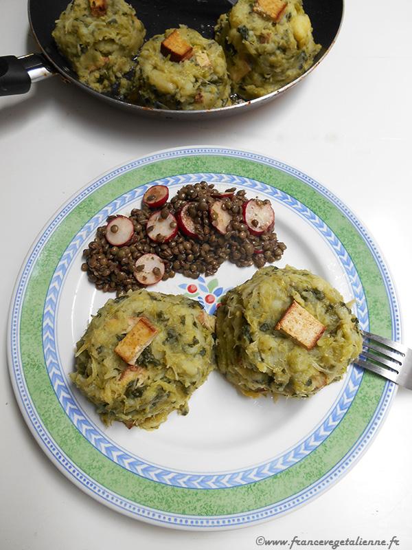 Trinxat (écrasée de chou et pomme de terre, recette végétalienne)