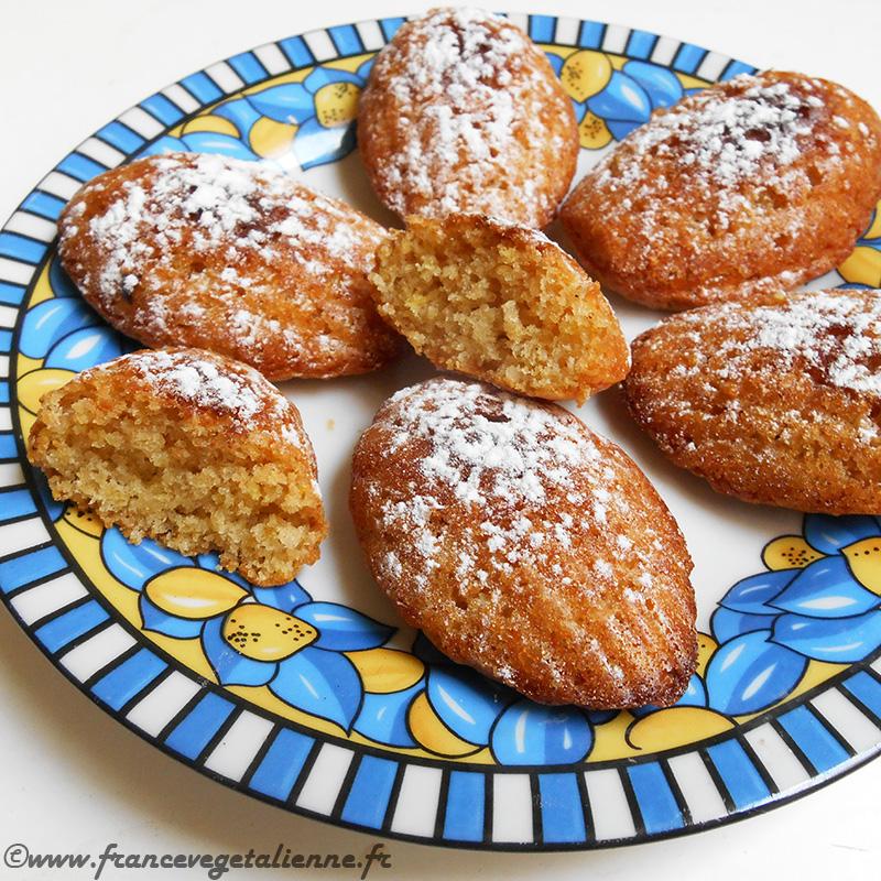 Madeleines (sans oeuf, sans lait)