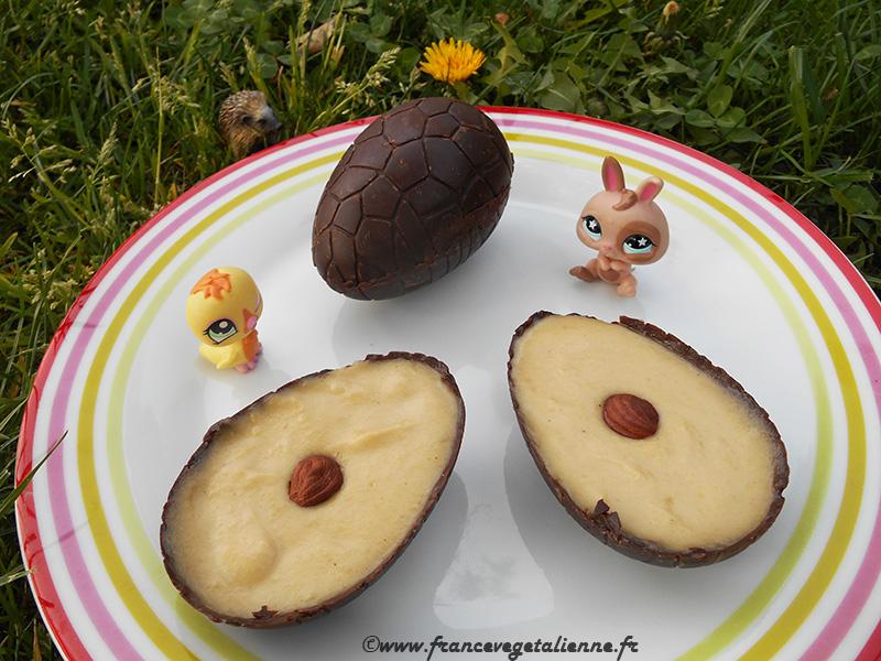 Oeufs de Pâques en chocolat: recette végane