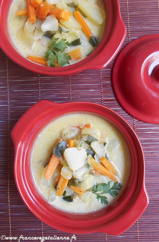 Waterzoï de légumes (végétarien)