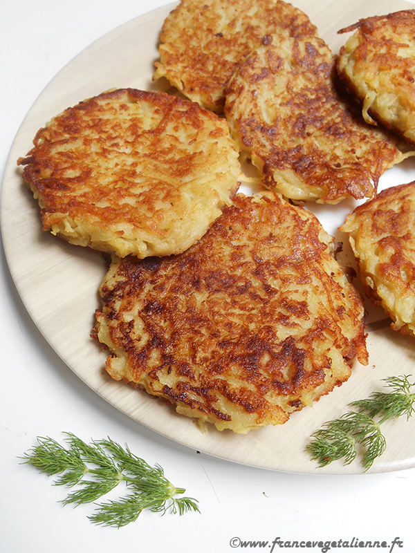 Râpée forézienne (galette de pomme de terre; recette végane)