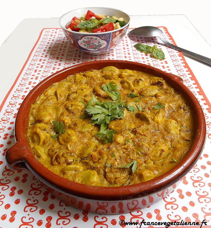 Mouclade de fèves (curry aux fèves façon marin; vegan)