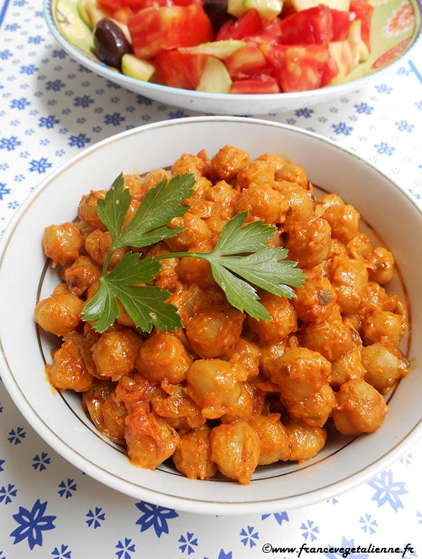 Curry aux pois-chiches (récette végane)