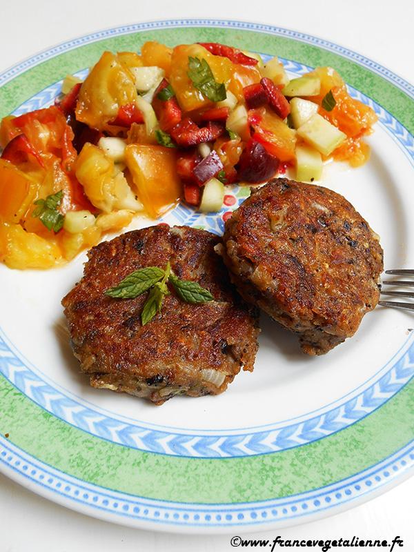Fricadelles-boulettes aux champignons (vegan)