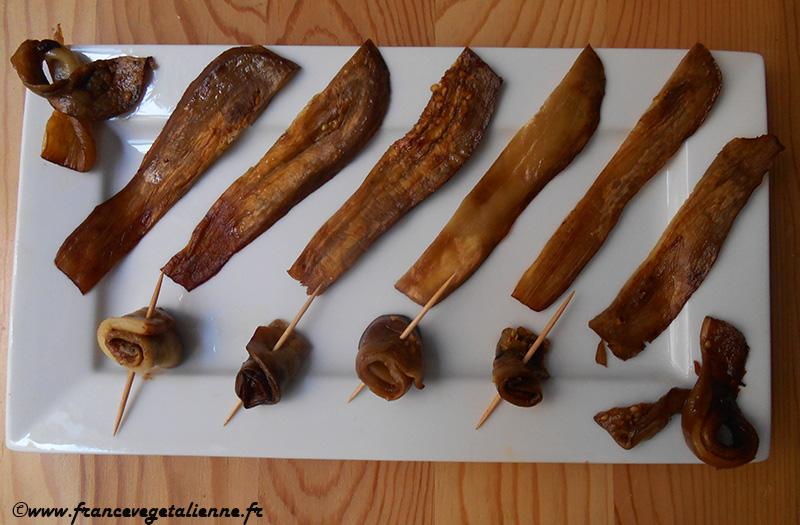 """""""Bacon"""" d'aubergine (recette végane)"""