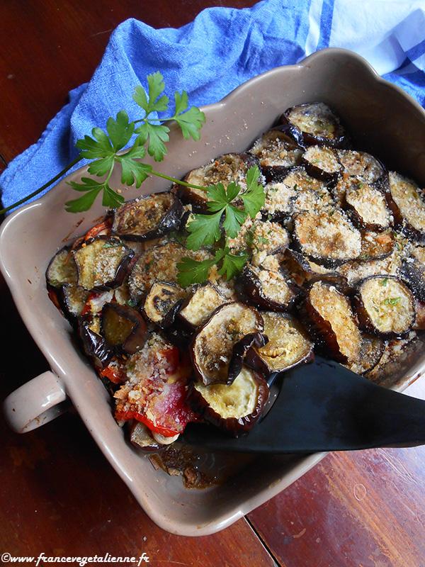 Gratin d'aubergine à la languedocienne (recette végane)