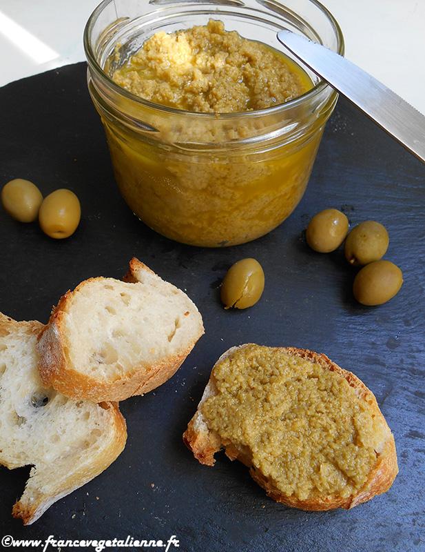 Pâte d'olive verte (recette végane)