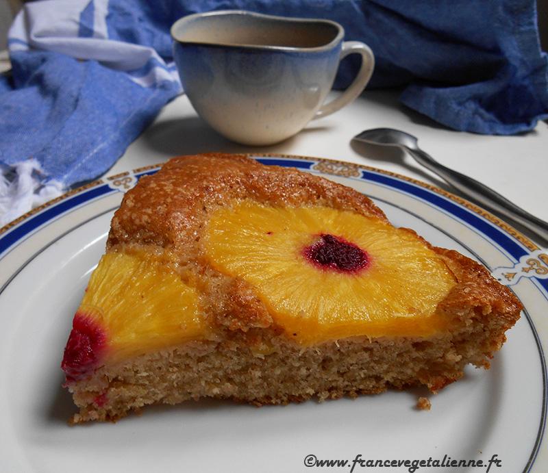 Gâteau à l'ananas (recette végane)