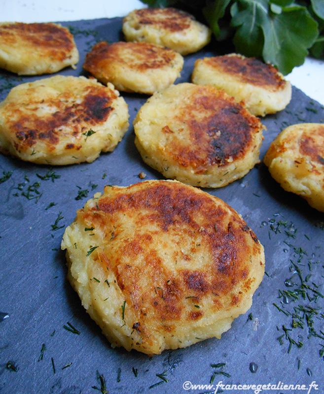 Palets de pommes de terre (recette russe; vegan)