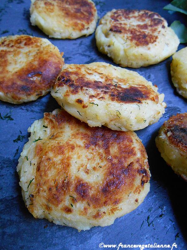 Palets de pommes de terre (recette végane)