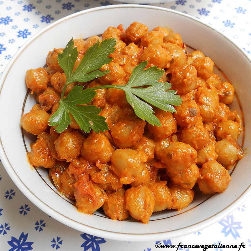 Curry aux pois-chiches express