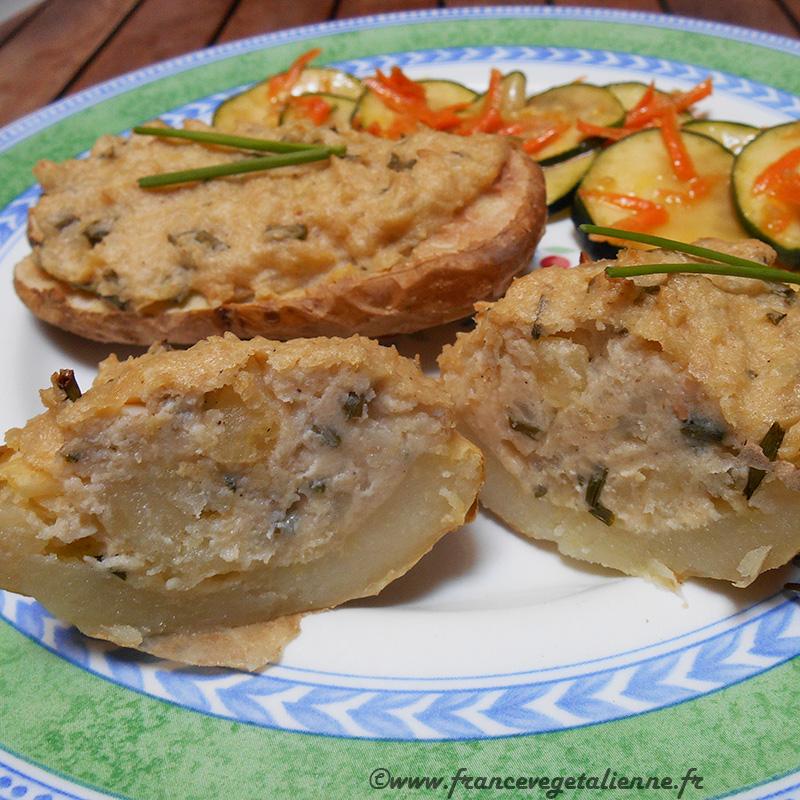 Pommes de terre farcies à l'ail